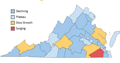 U.VA. statewide case map 10.2.20