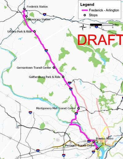 Arlington-to-Frederick transit proposal alive, but on life support