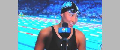 Yorktown swimmer interviewed