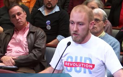 Daniel Gajewski at Arlington County Board meeting