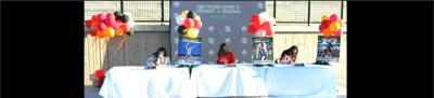College signing ceremony at Flint Hill