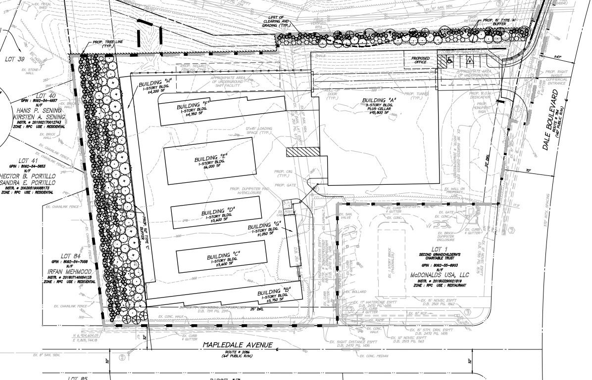 Self-storage center proposed for Dale Boulevard layout