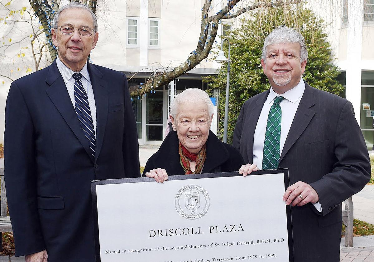 Marymount honors trustee by naming plaza in her honor