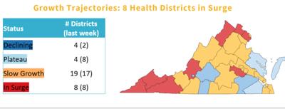 State map COVID-19 surge Nov. 21, 2020