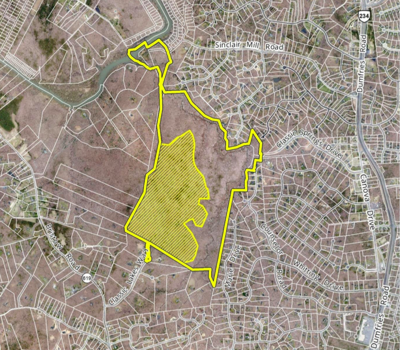 Map proposed Preserve at Long Branch