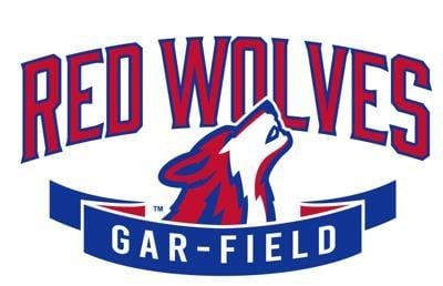 Gar-Field Red Wolves logo (2021)