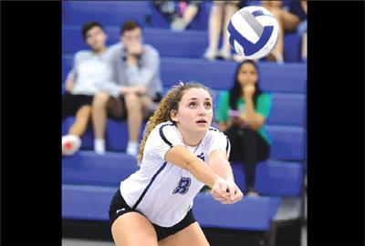 Marymount volleyball player