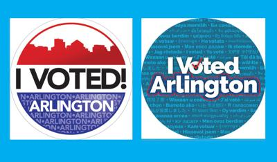Arlington voting-sticker contest