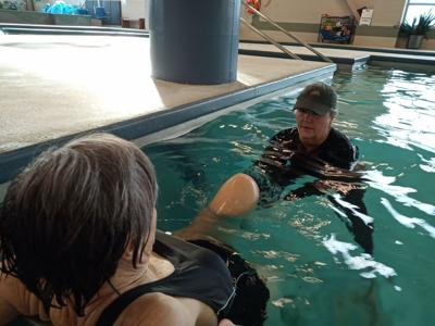 Steele providing relief to many through AquaStretch at Powell