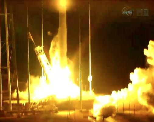 Video Rocket Explodes Seconds After Liftoff At Wallops