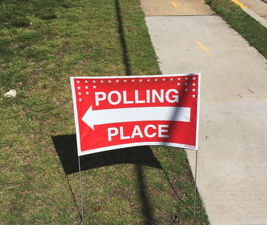 Polling Place Voting Sign Election Vote Pixabay