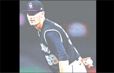 Rockies pitcher Tommy Doyle