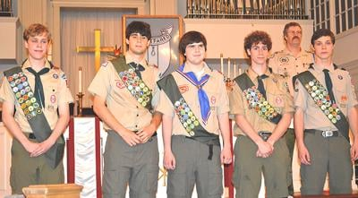 Eagle Scouts from Troop 167
