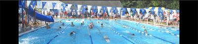 Springboard swimming pool