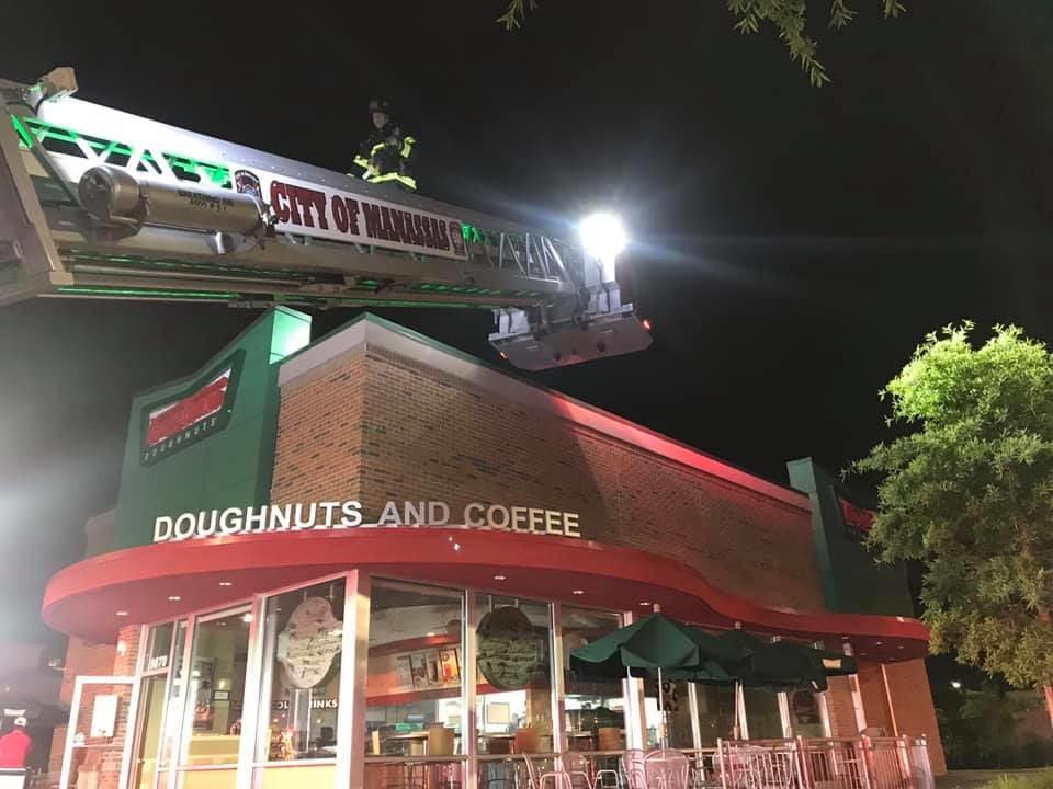 Krispy Kreme donuts fire