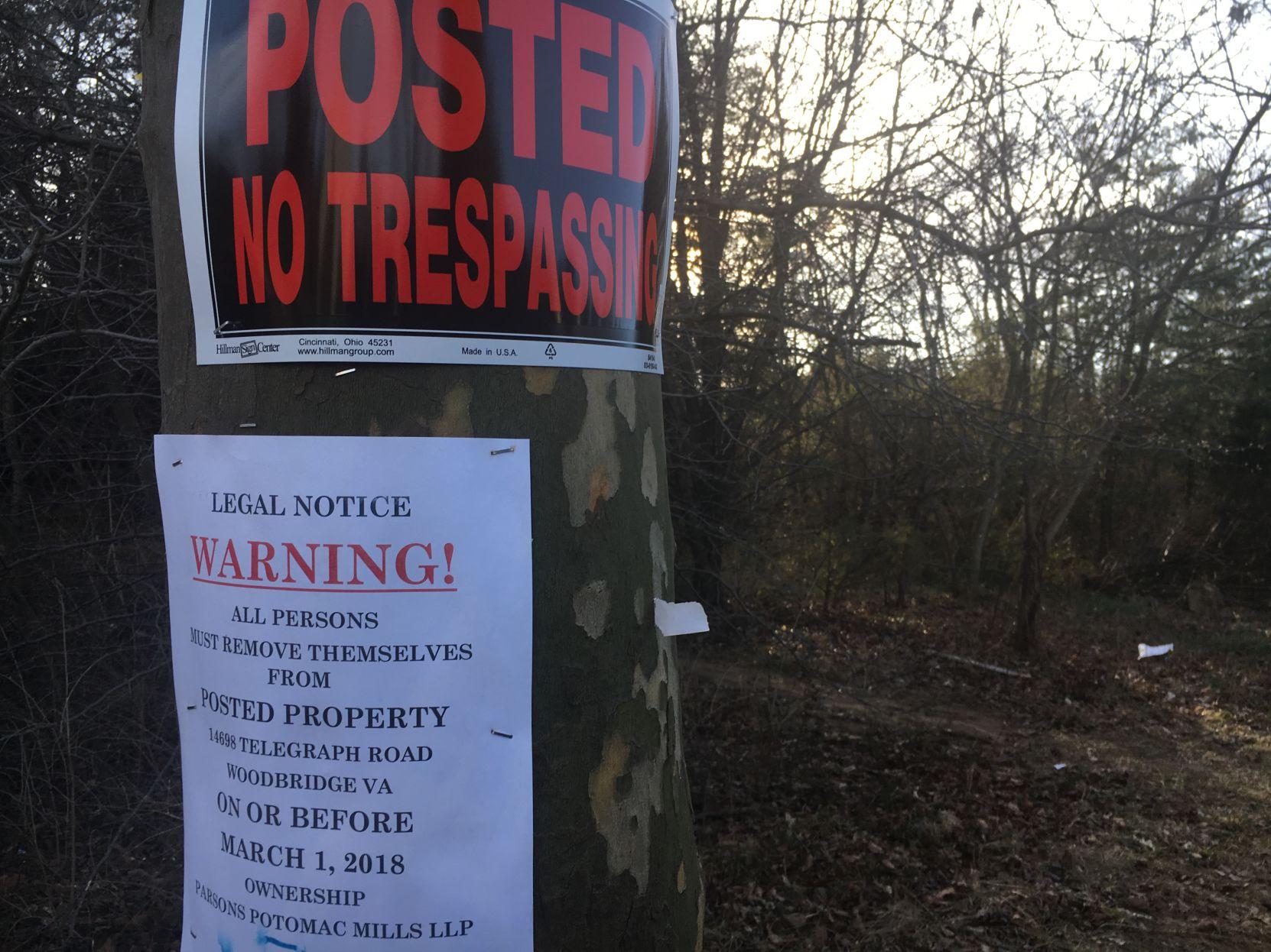 Parsons Potomac Mills No Trespassing