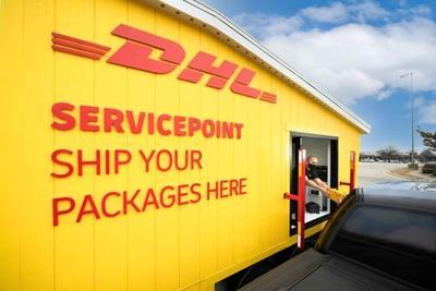DHL pop up store