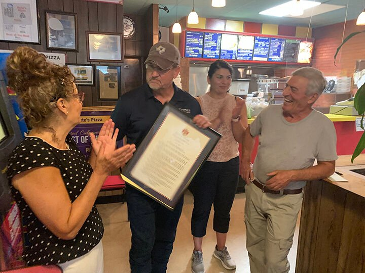 Pete's Pizza family recognized for 45 years of service to Culpeper