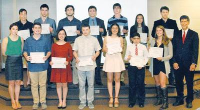Vienna Optimists honor high-schoolers