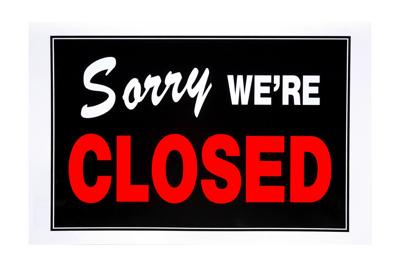 BIGSTOCK CLOSED SIGN BUSINESS