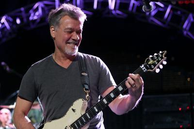 WANTAGH, NY-AUG 14: Eddie Van Halen of Van Halen performs onstage at Jones Beach Theater on August 1