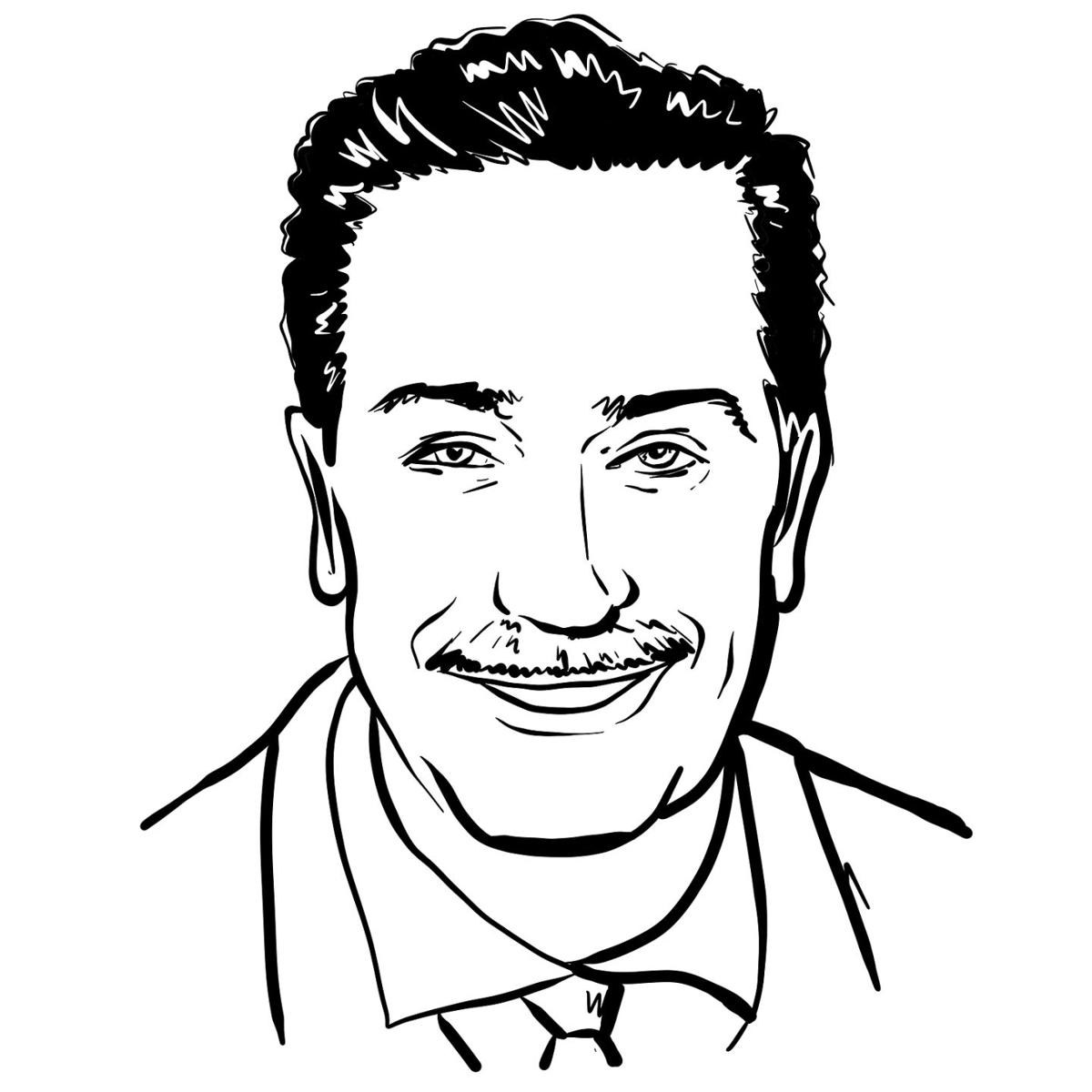 Kaliningrad, Russia 13 February 2020 . Walt Disney Portrait Sketch Illustration