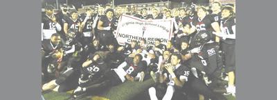 Madison football trophy shot