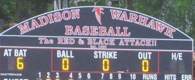 Madison baseball scoreboard