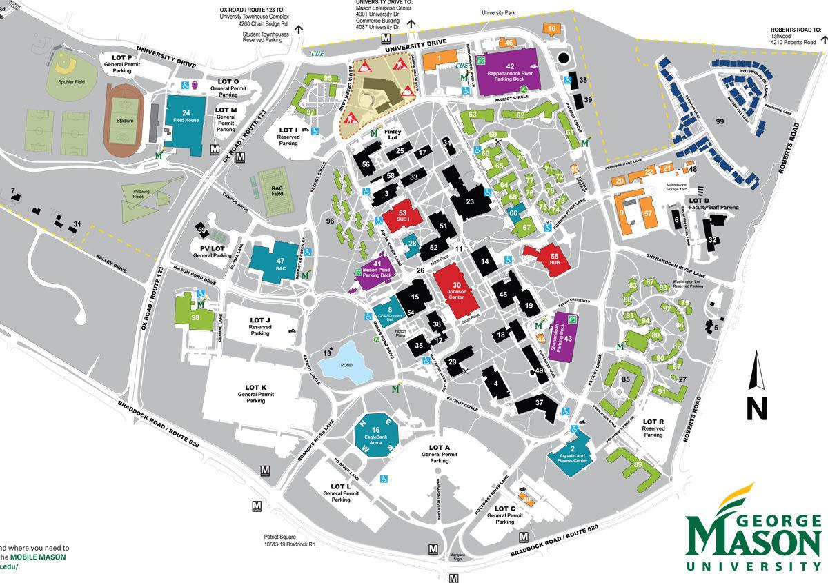 Gmu Fairfax Campus Map Mason officials plan community conversation on future of Fairfax
