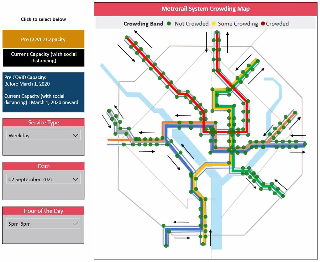 Metro tracker tool Greater Washington Partnership