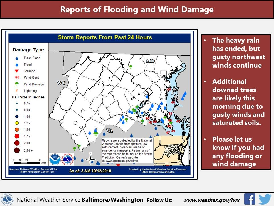 High winds continue from Michael, 10K without power in NoVa