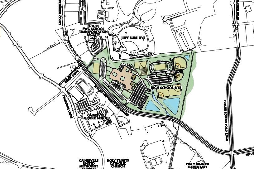 zoomed in 13th Prince William County High School Site Drawing March 2 2017
