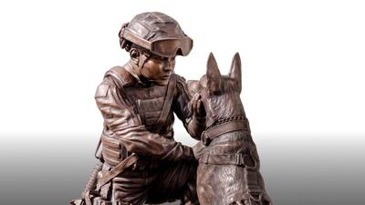 Sculpture lauds contributions of women in military