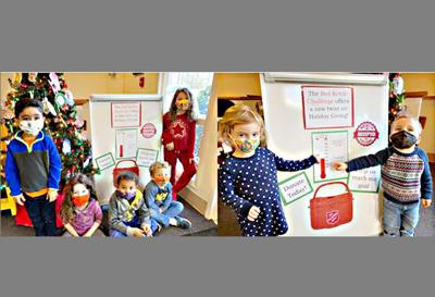 Preschoolers do their part to support Salvation Army