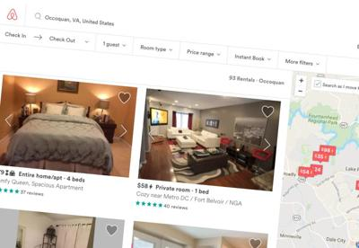 Airbnb search page