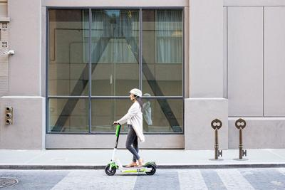 Motorized electric scooters lime