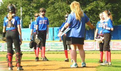 McLean LL softball huddle