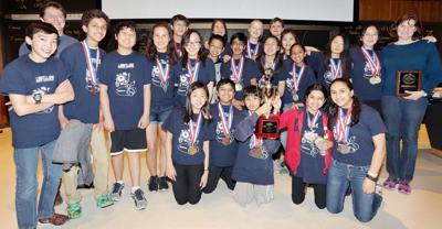 Longfellow Middle Science Olympiad team