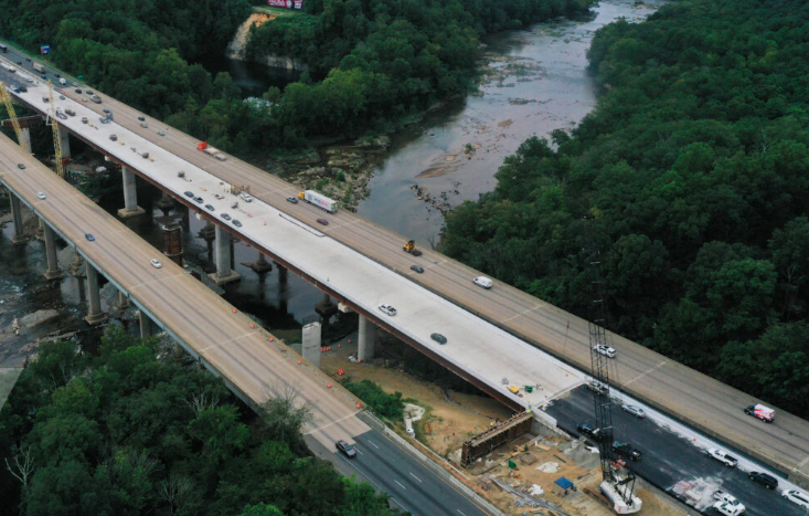 New bridge over I-95 Fredericksburg