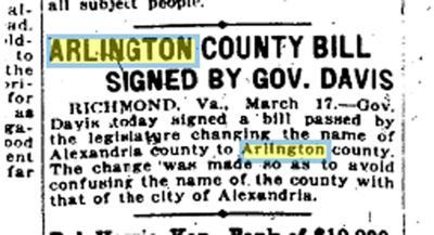 Centennial of Arlington name change