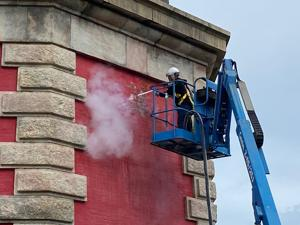 VIDEO: National Park Service tests dry ice blasting for Cape Hatteras Lighthouse restoration
