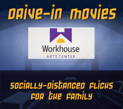 Workhouse Arts Center drive-in movies logo
