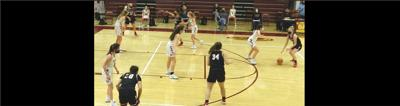 Basketball action, Madison vs. Oakton girls
