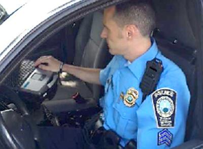 Prince William County police officer with a body camera