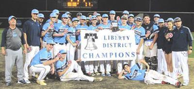 Liberty District baseball banner