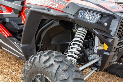 Bordeaux , Aquitaine / France - 03 03 2020 : Polaris Rzr 800 Detail New Model Red Quad