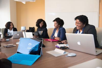 diverse women office