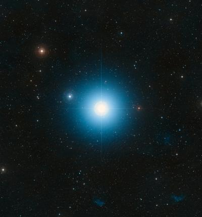 Wide-field view of the sky around the bright star Fomalhaut