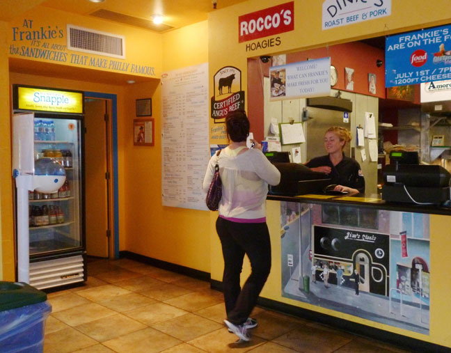 diners at frankie s south philly cheesesteaks on campbell avenue will be given guidance on health food selections under pima county s smart choices for