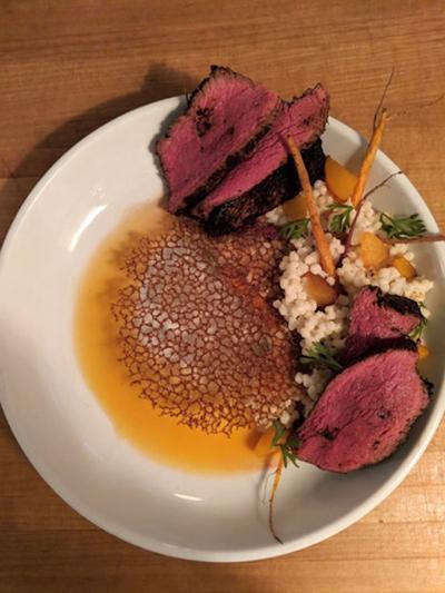 Agustin Kitchen coffee-rubbed steak